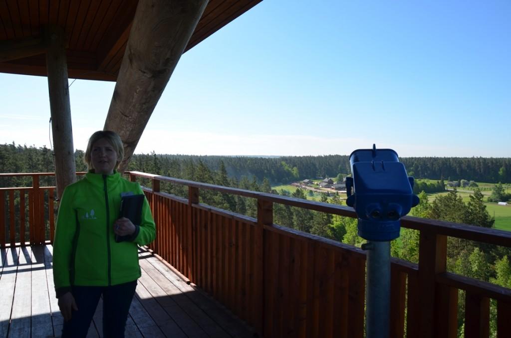 uitkijktoren in natuurpark Tervete
